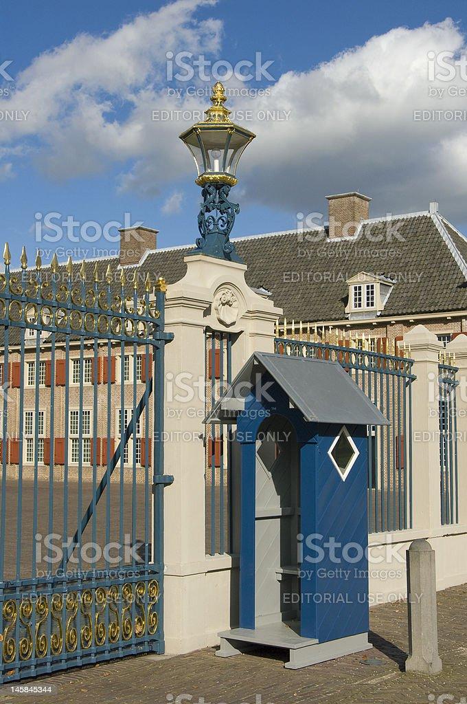 Guard Booth at Paleis Het Loo (Royal Palace) stock photo