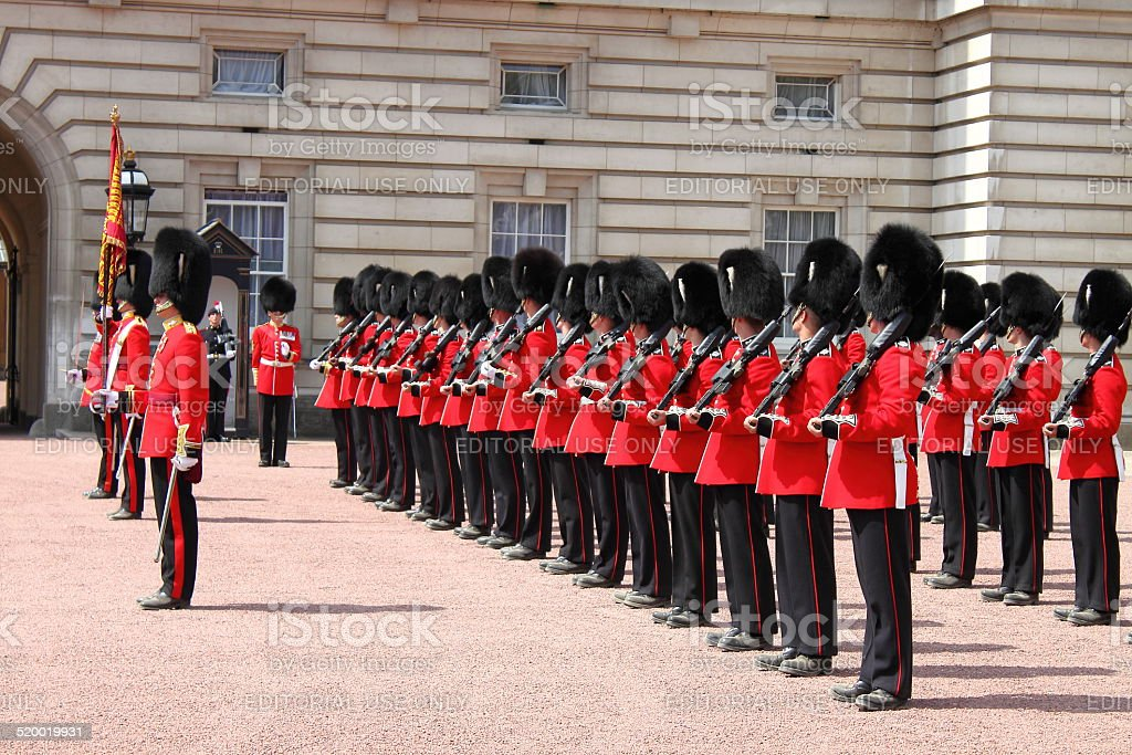Guard change in Buckingham Palace stock photo
