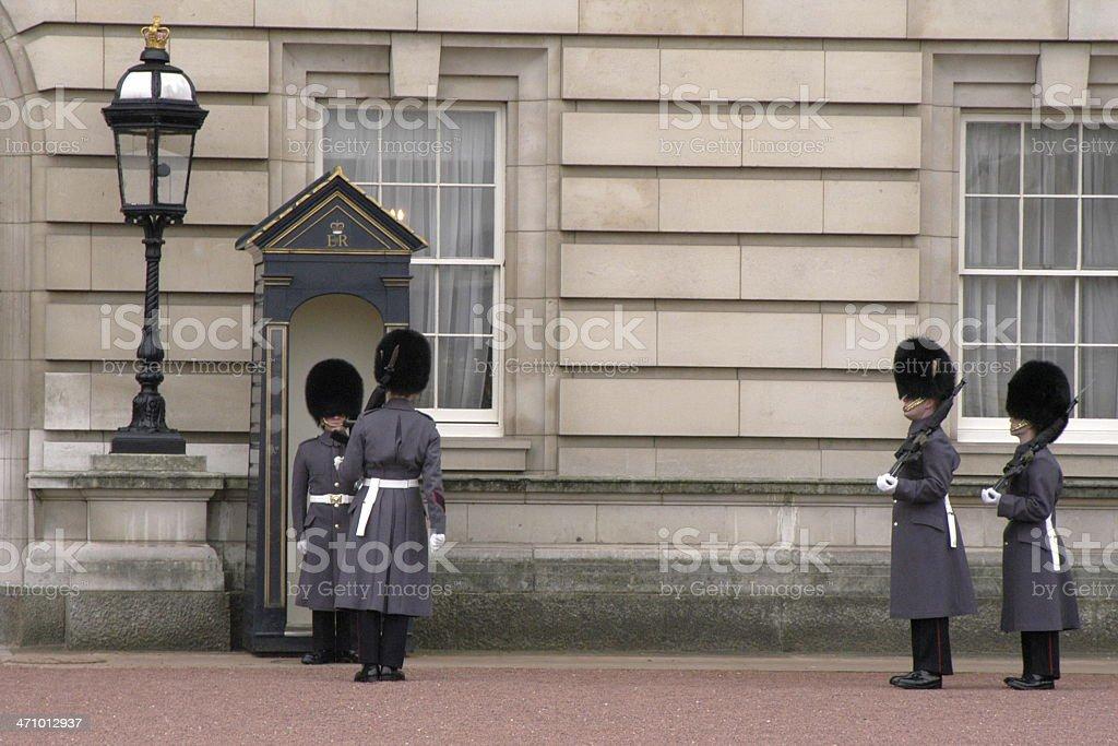 Guard Change stock photo