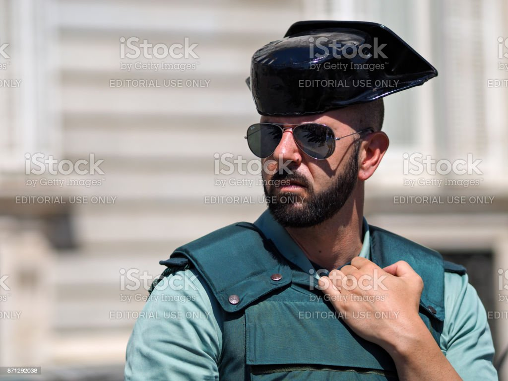 guard in front of Royal Palace stock photo