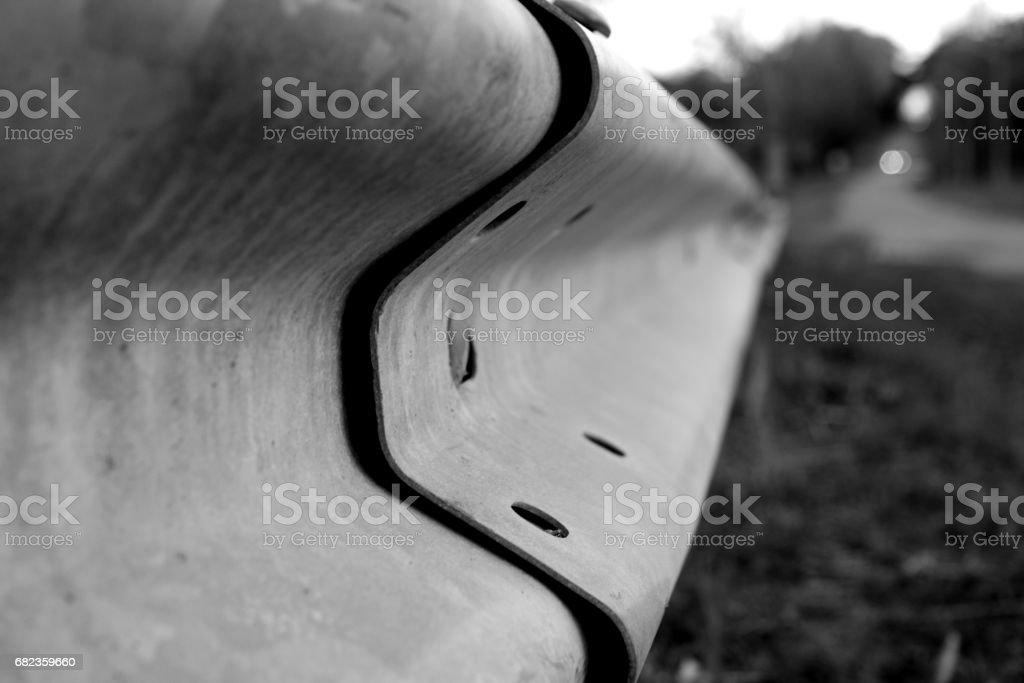 Guard Rail Perspective royalty free stockfoto