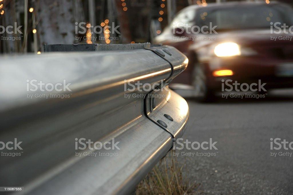 guard rail royalty-free stock photo