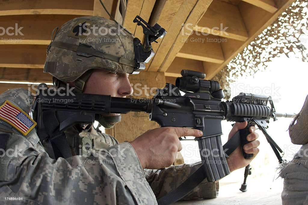 Guard Soldier stock photo