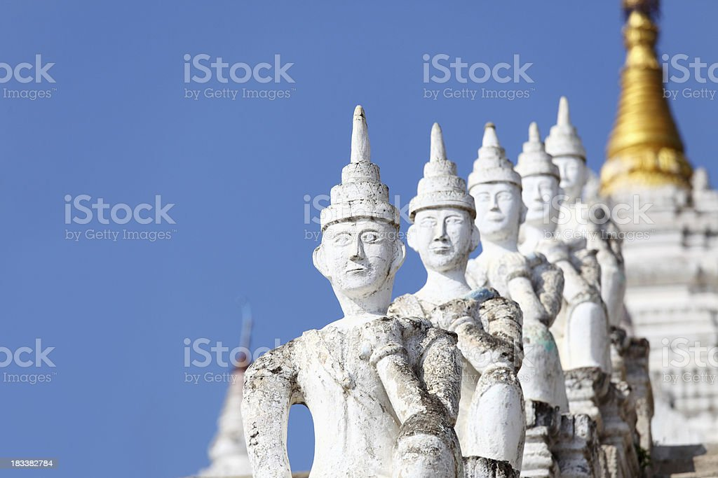 guard statues of a buddhist temple royalty-free stock photo