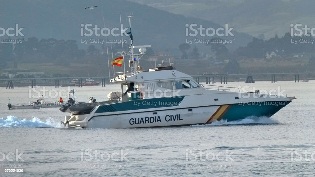Guardia Civil (Spanish police) boat stock photo