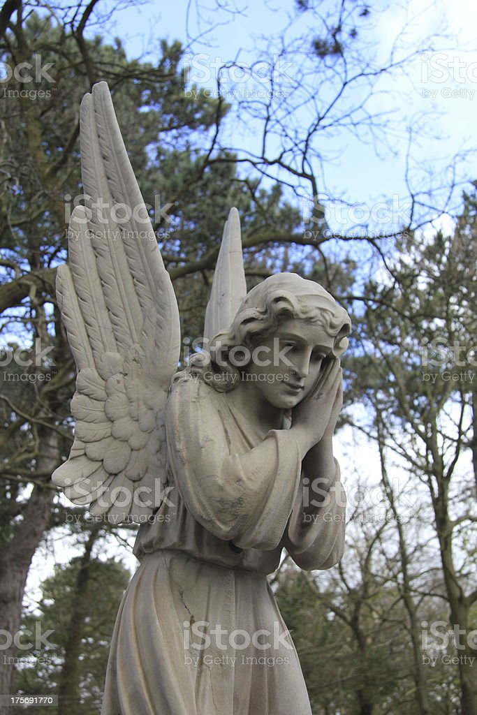 Guardian Angel grave monument royalty-free stock photo