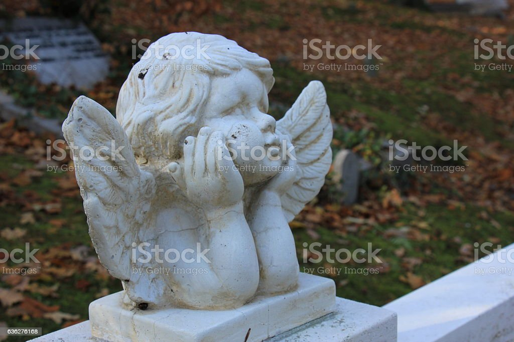 Guardian Angel Grave Ornament Stock Photo - Download Image