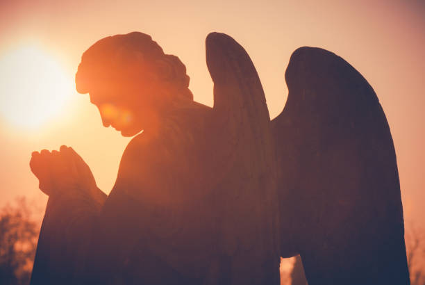 guardian angel - vintage style photo stock photo
