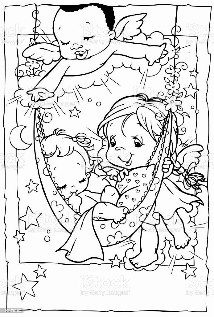 guardian cherubins royalty-free stock photo