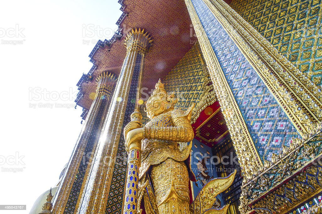 Guardian Demons in Grand Palace Thailand stock photo