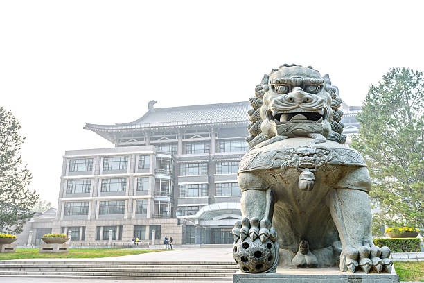 Guardian lion stock photo
