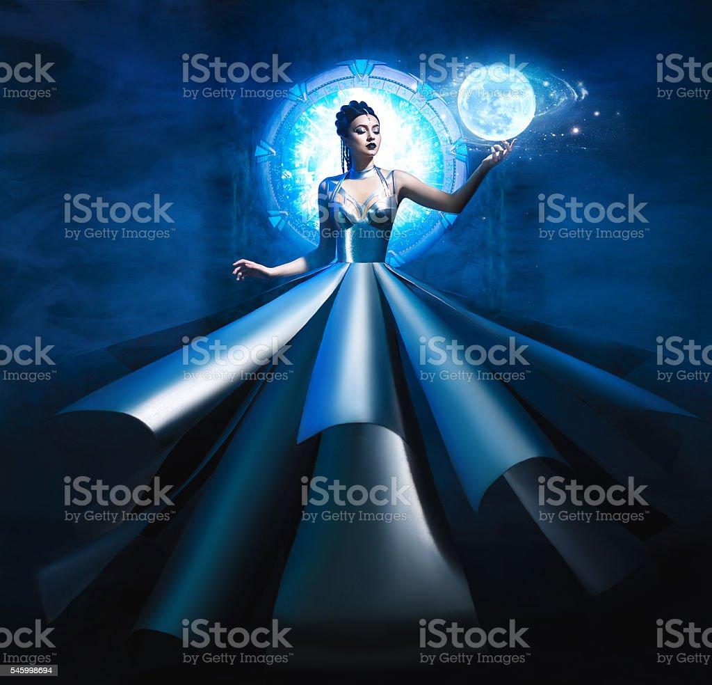 guardian of portals stock photo