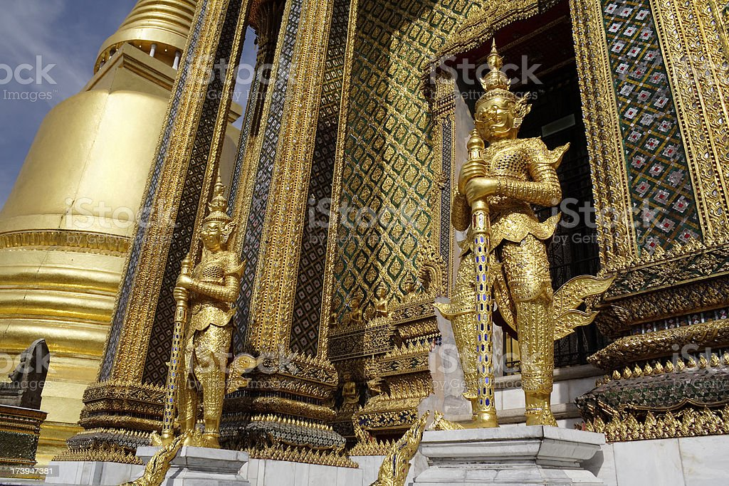 Guardians of Grand palace royalty-free stock photo