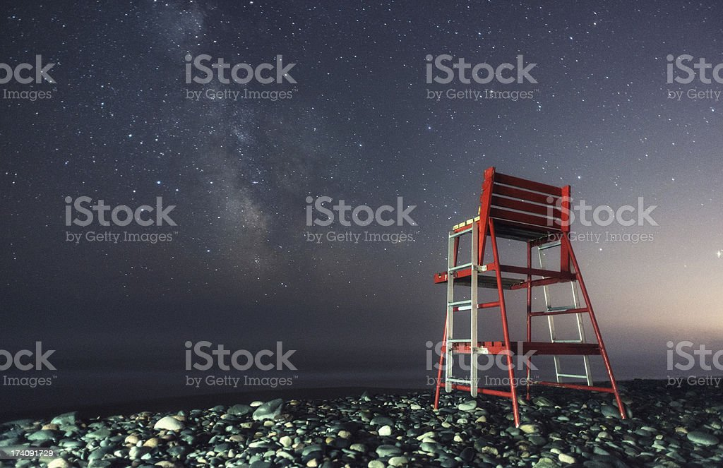Guarding a Sea of Stars royalty-free stock photo
