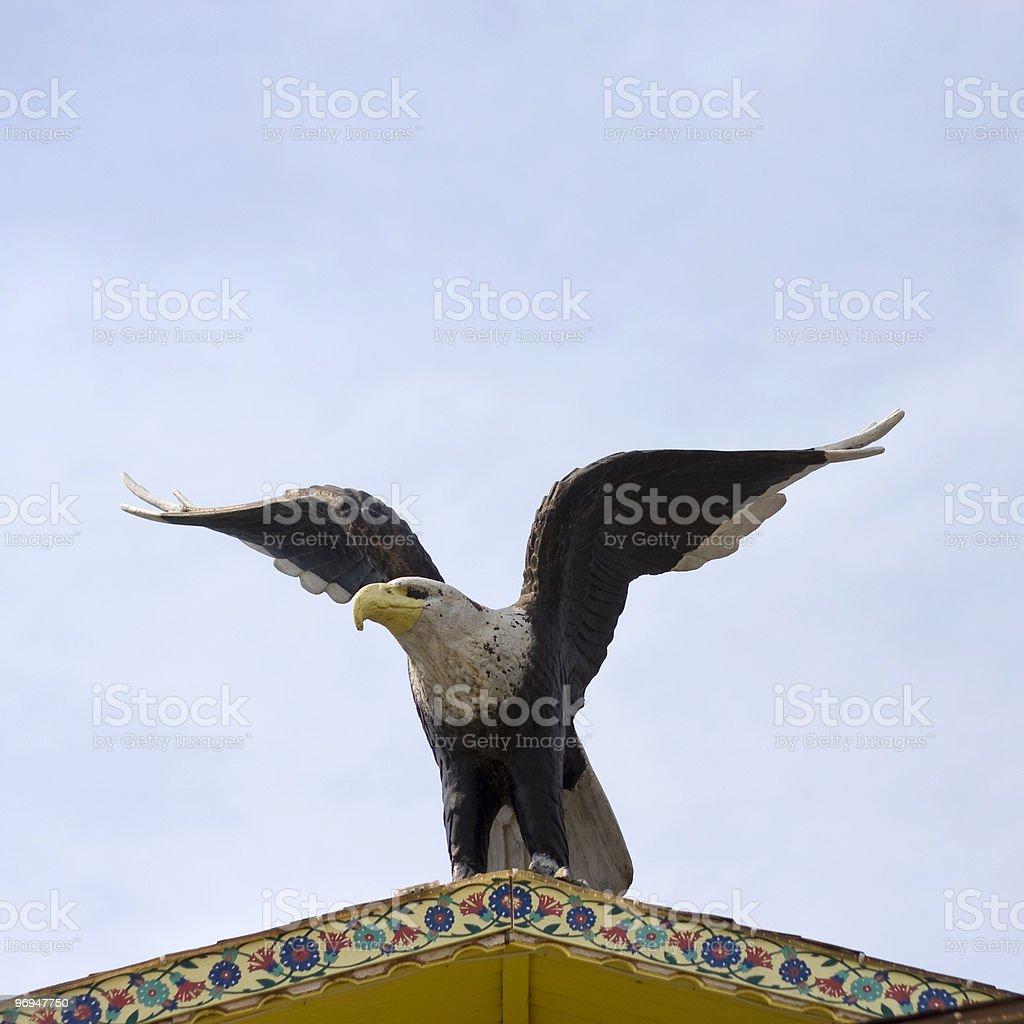 Guarding eagle royalty-free stock photo