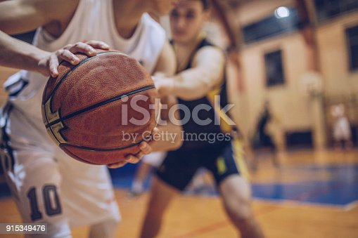 istock Guarding his player 915349476