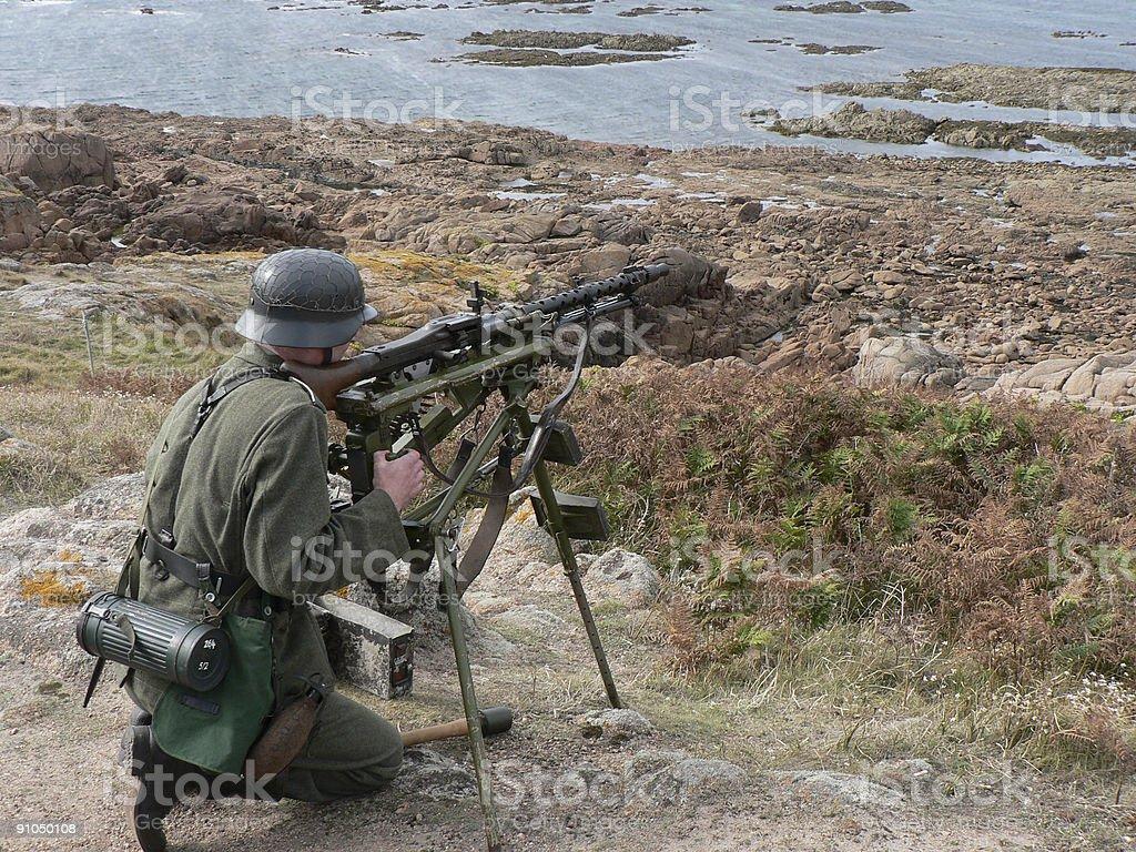 Guarding the Atlantic Wall royalty-free stock photo