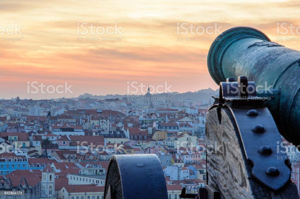 guarding the city stock photo