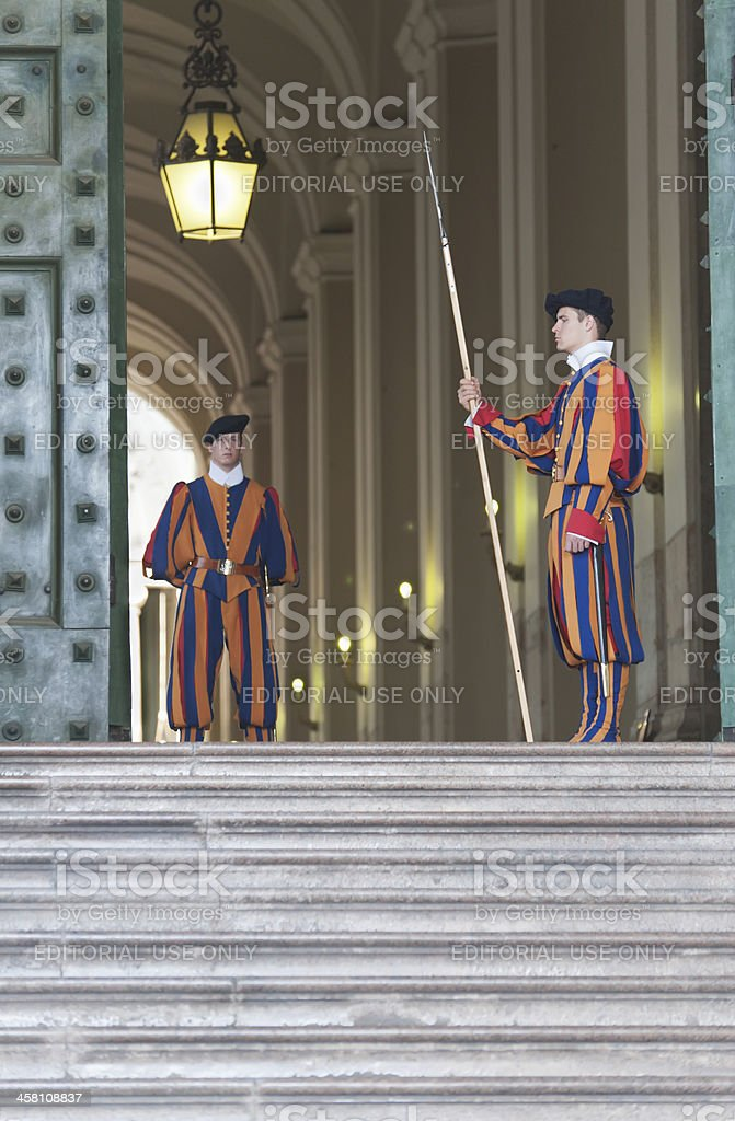 Guarding The Vatican royalty-free stock photo