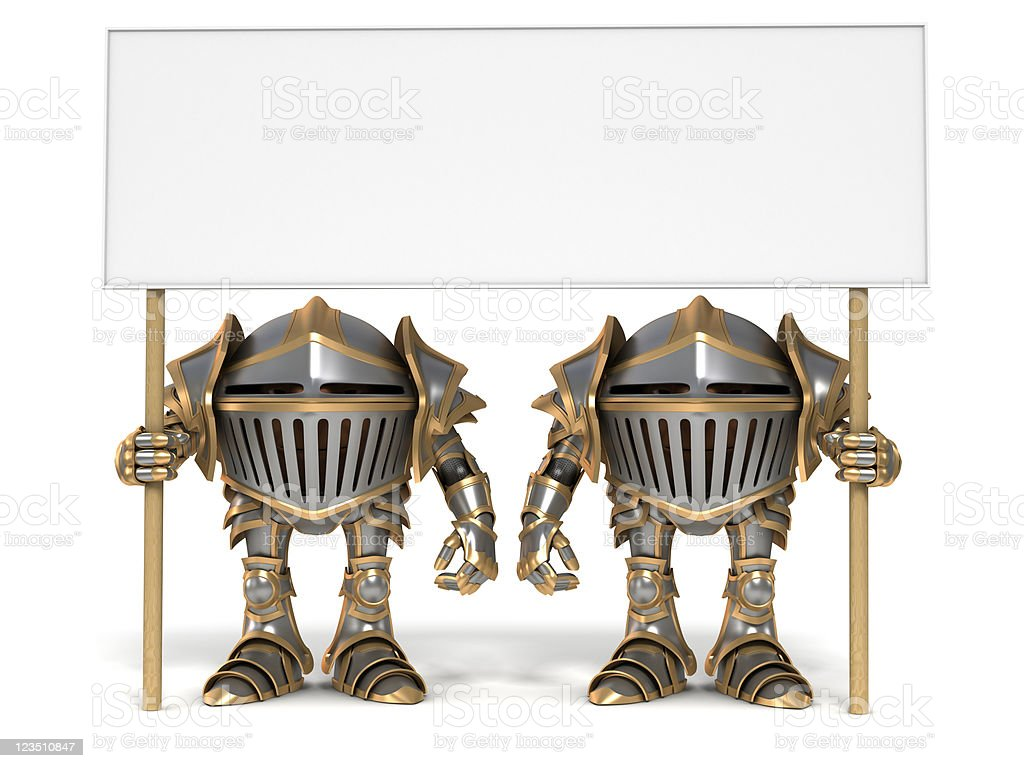 Guards and banner royalty-free stock photo