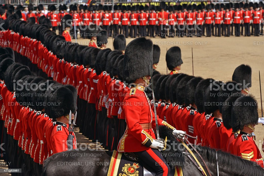 Guards in London royalty-free stock photo
