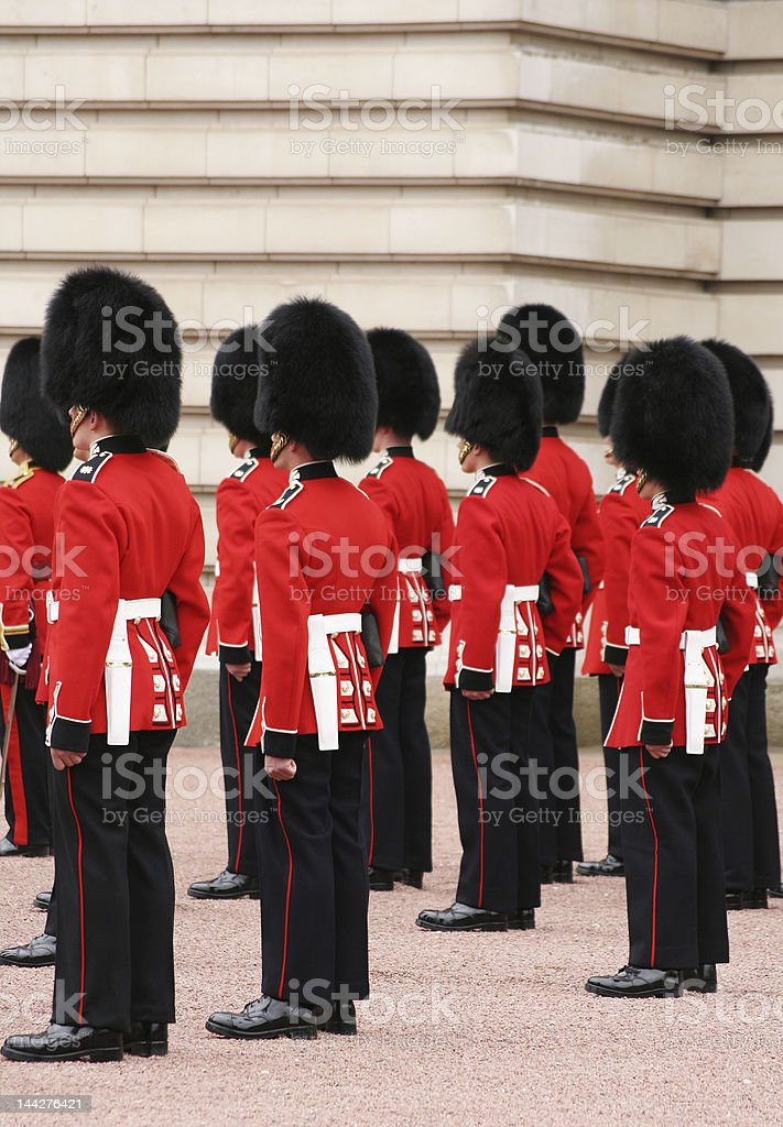 guards in uniform stock photo