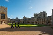 Windsor, UK - April 2019: Round Tower of Windsor Castle