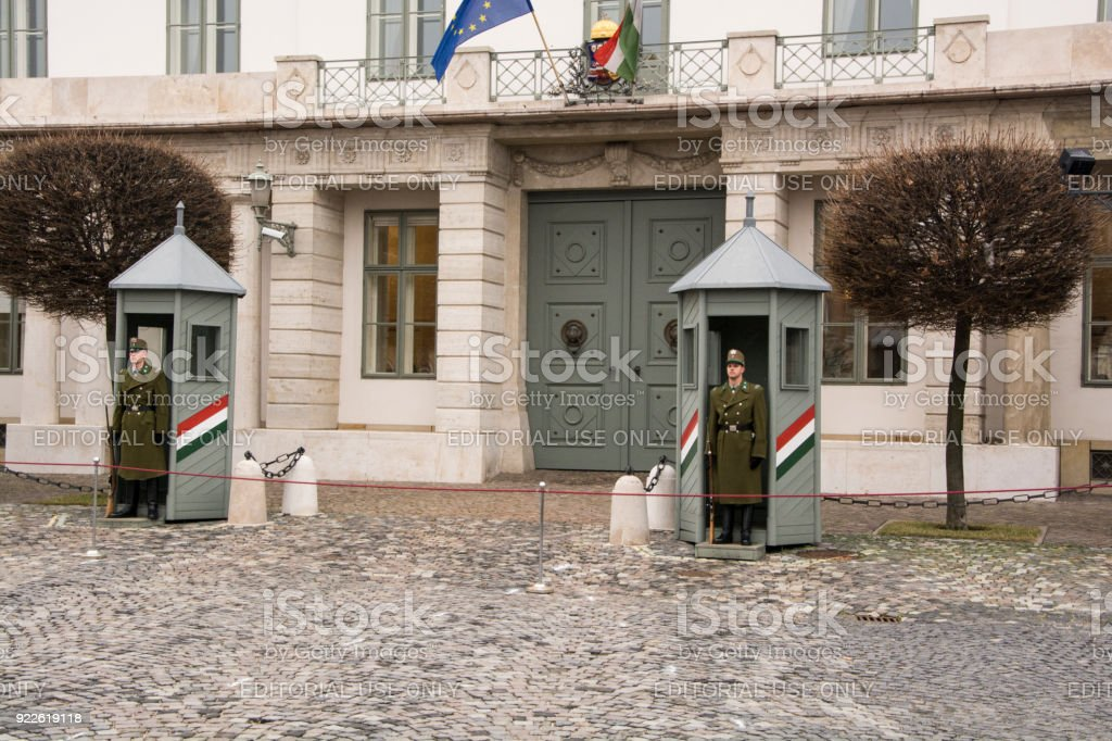 Guards on duty stock photo