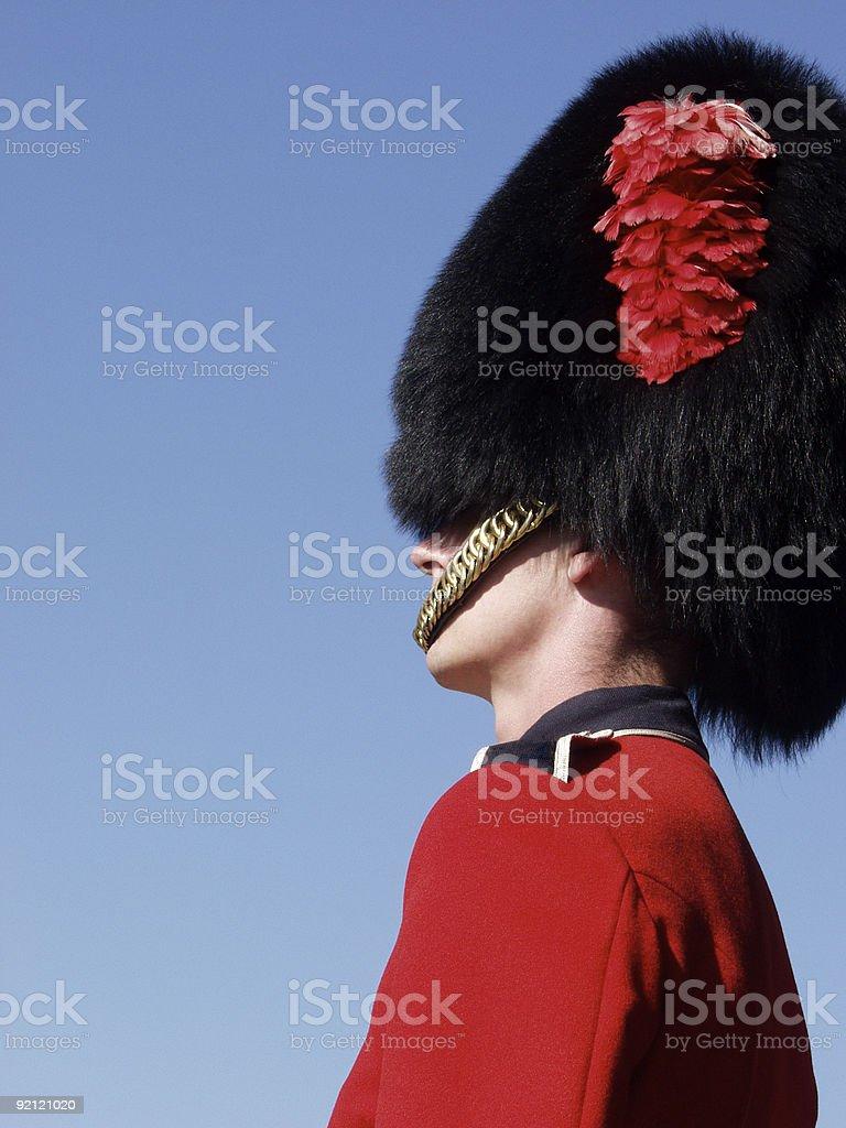 Guardsman at Quebec Citadel royalty-free stock photo