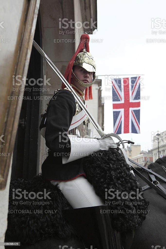 Guardsman on duty at St James Park entrance royalty-free stock photo