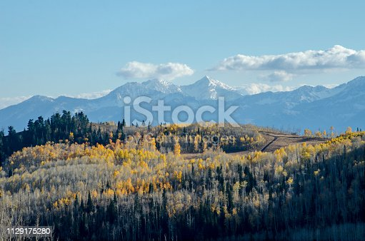 Guardsman Pass and Aspens at Peak Color, Park City, Utah in the Colorado Rocky Mountains
