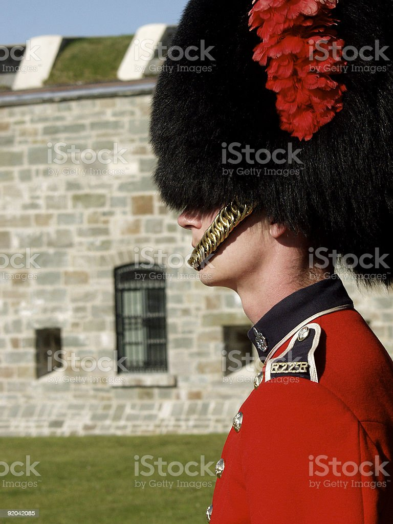 Guardsman with Citadel royalty-free stock photo