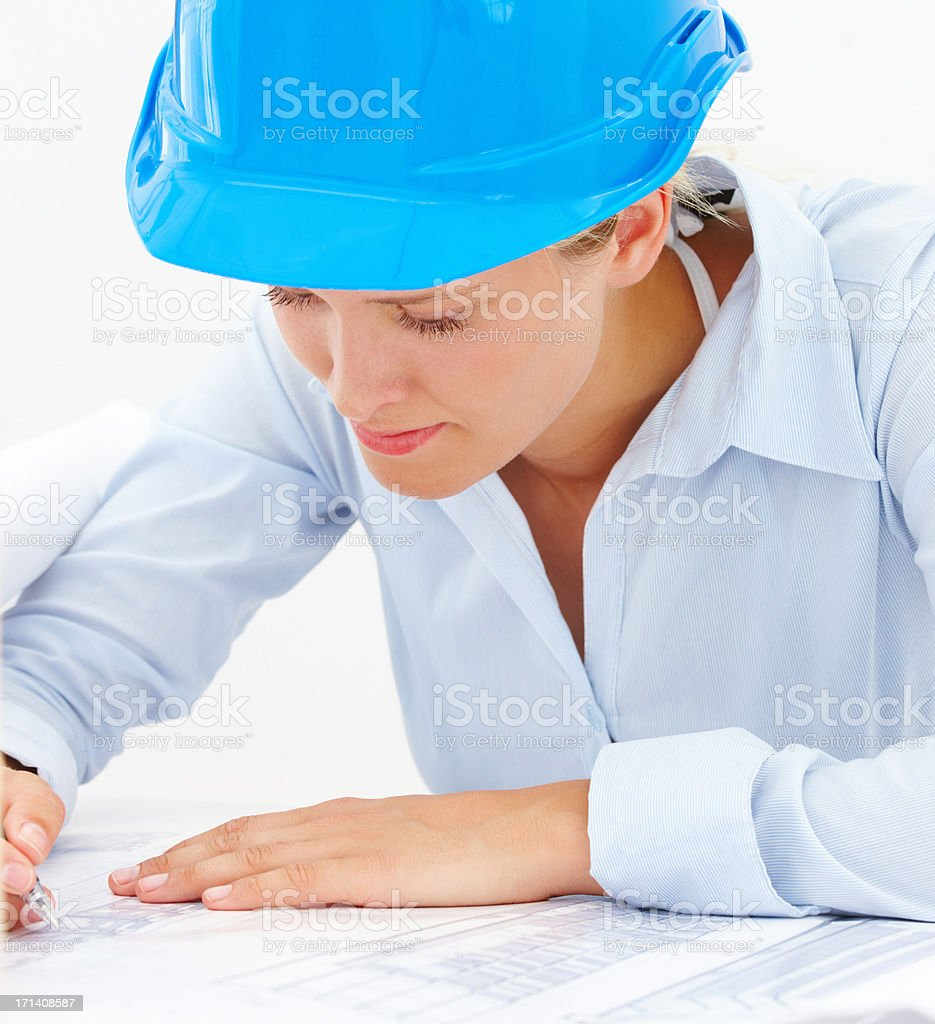 Guarenteeing attention to detail in the building industry royalty-free stock photo