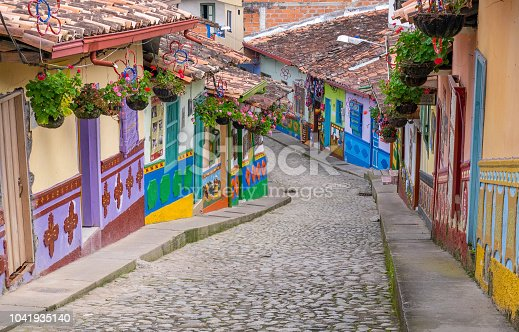 istock Guatape, Colombia. Typically colourful buildings in Guatape Colombia 1041935140