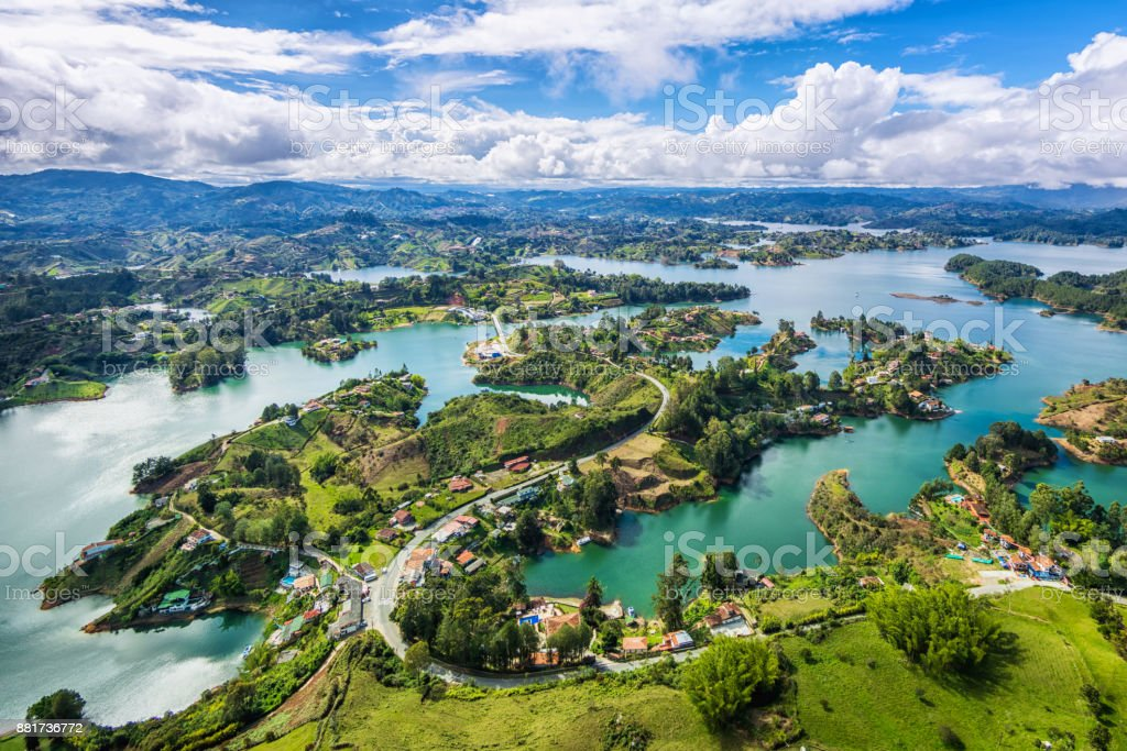 Guatape Panoramic View from the Rock (La Piedra del Penol), Medellin, Colombia
