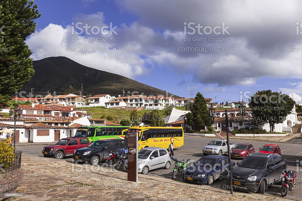 Guatavita, Colombia - Residential area; colonial style architecture royalty-free stock photo