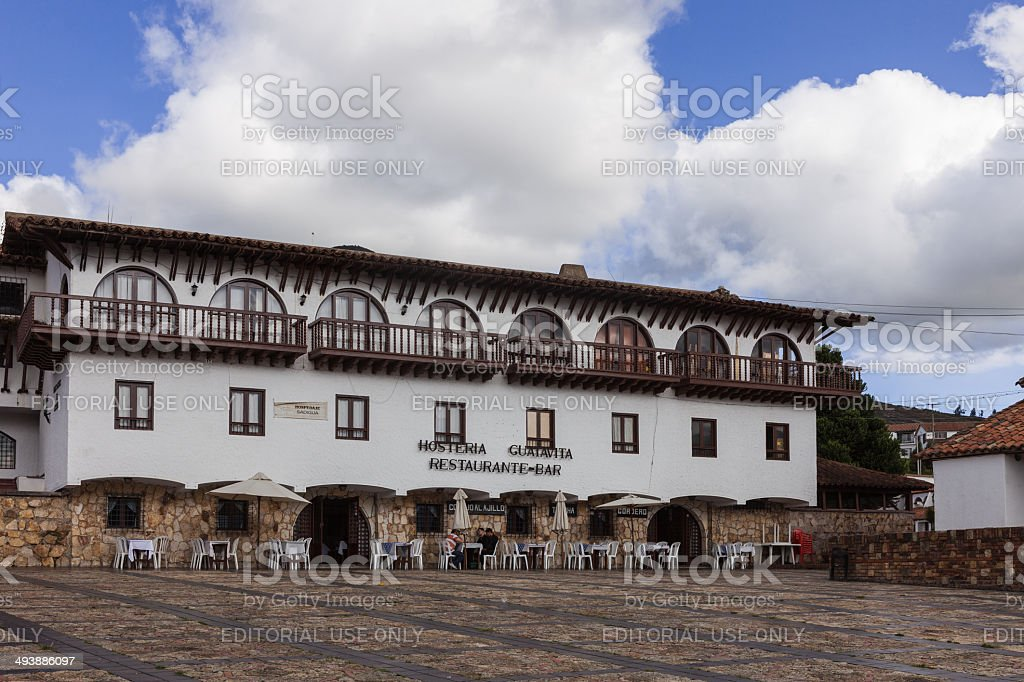 Guatavita, Colombia - Restaurant on the square royalty-free stock photo
