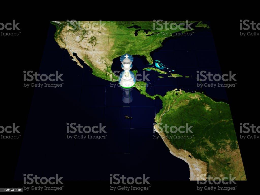 Mapa de ajedrez de Guatemala - foto de stock
