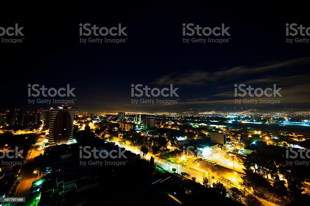 Guatemala City by night foto