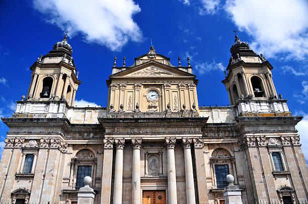 guatemala city cathedral - guatemala stadt stock-fotos und bilder