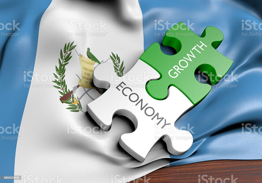 Guatemala economy and financial market growth concept, 3D rendering - foto de stock