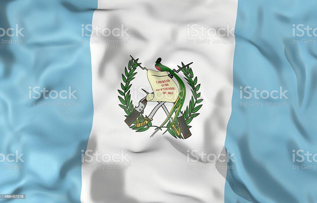 Ilustración 3d de bandera de Guatemala - foto de stock