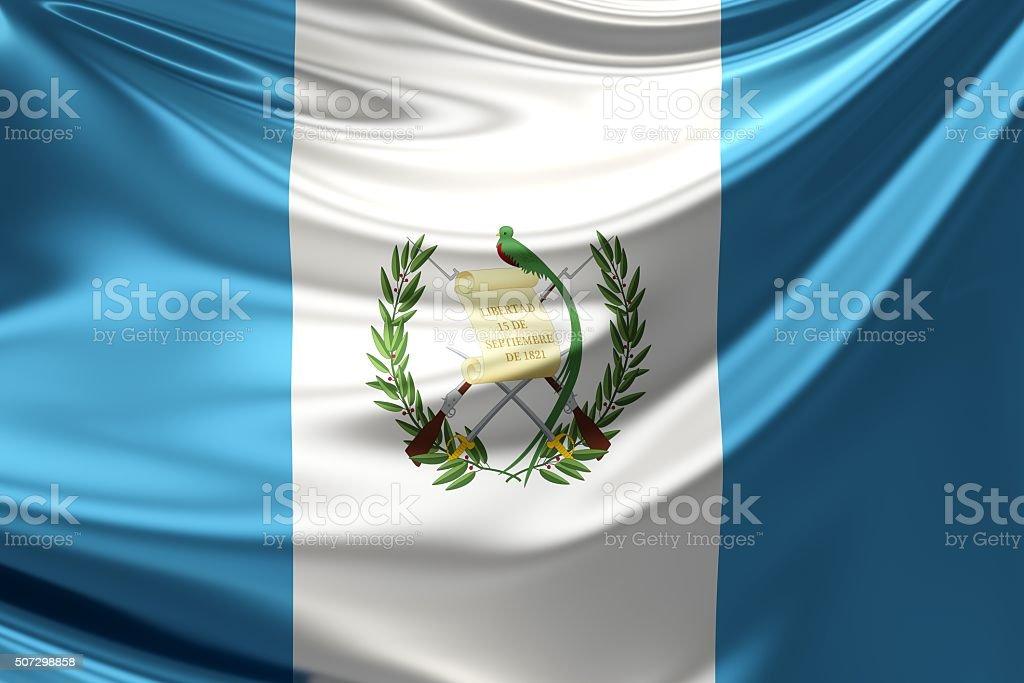 Bandera de Guatemala. 3 d ilustración - foto de stock