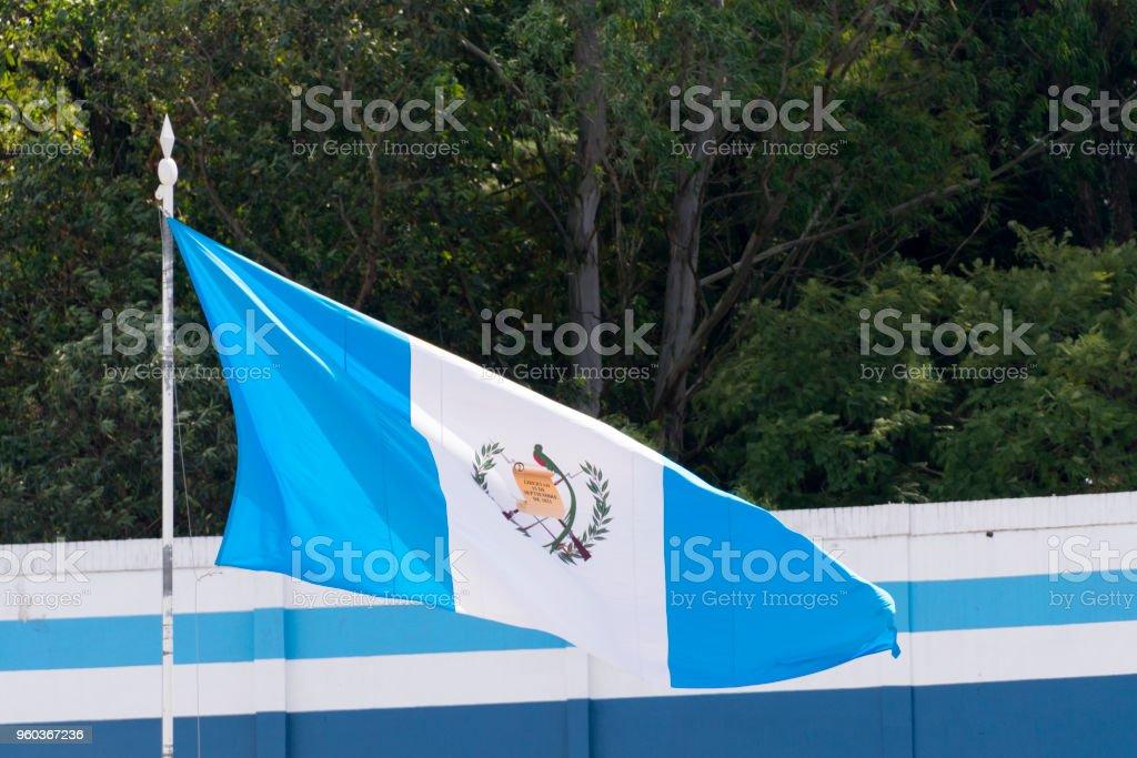 Guatemala Flag National Symbol Waving On The Wind Stock Photo More