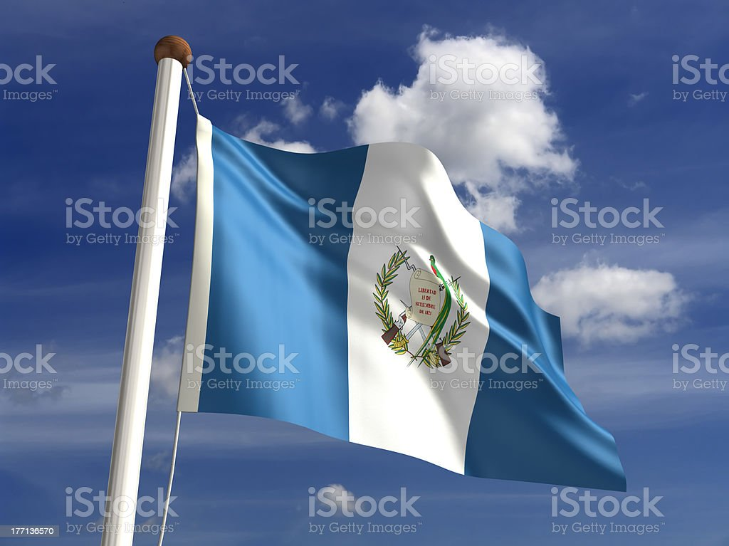 Guatemala flag (with clipping path) royalty-free stock photo