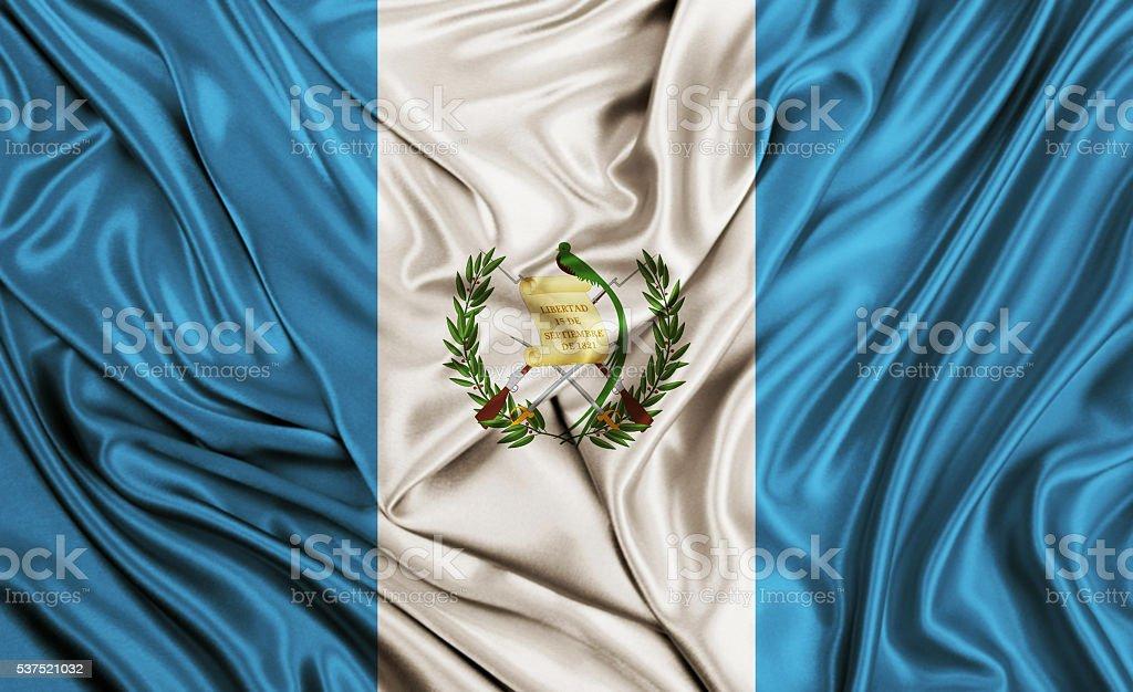 Bandera de Guatemala-textura de seda - foto de stock