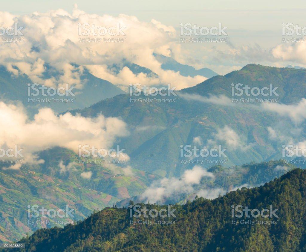 Guatemala Mountain Landscape stock photo
