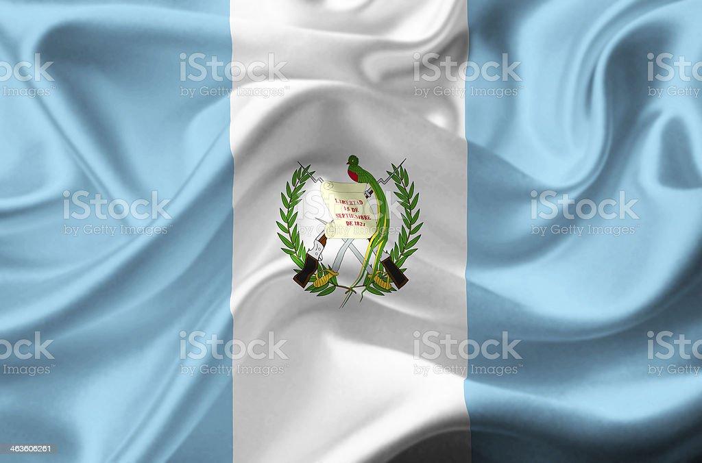 Bandera de Guatemala Saludar con la mano - foto de stock