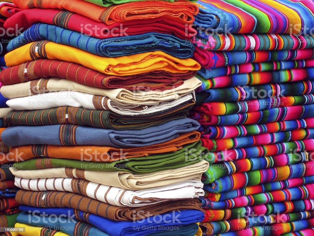 Guatemalan Blankets royalty-free stock photo