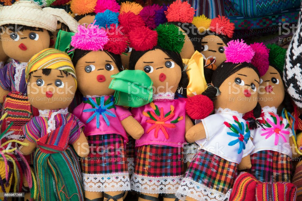 Guatemalan dolls stock photo